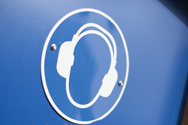 Schild Lärmschutz
