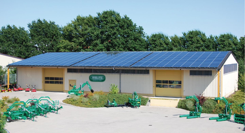 Bild-Lager-Kragdach-Photovoltaik